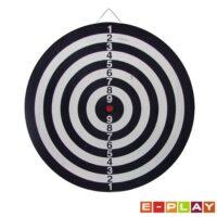 Tarcza do gry w Dart papierowa flokowana 45cm z rzutkami
