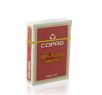 Karty Copag Jumbo 100% Plasic Red